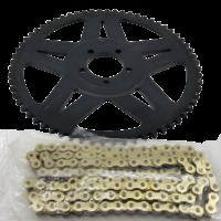 Звезда и цепь 64 зуба для Surron LightBee X (64 teeth steel sprocket + chain)